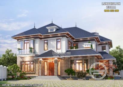 Hình ảnh: Thiết kế biệt thự mái Nhật 2 tầng đẹp 300m2 - LV 23111