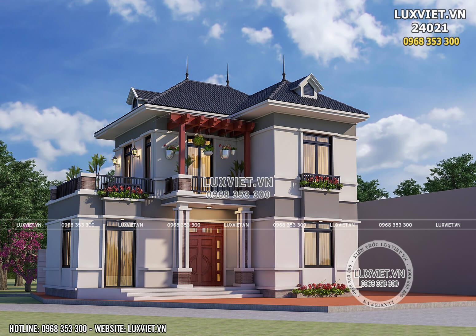 Mẫu nhà chữ L 4 phòng ngủ siêu đẹp tại Thái Bình – LV 24021