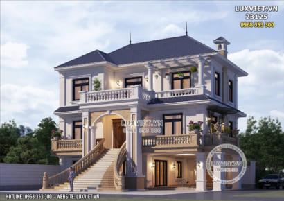 Hình ảnh: Thiết kế nhà 1 trệt 2 lầu đẹp tại Bắc Ninh - LV 23125