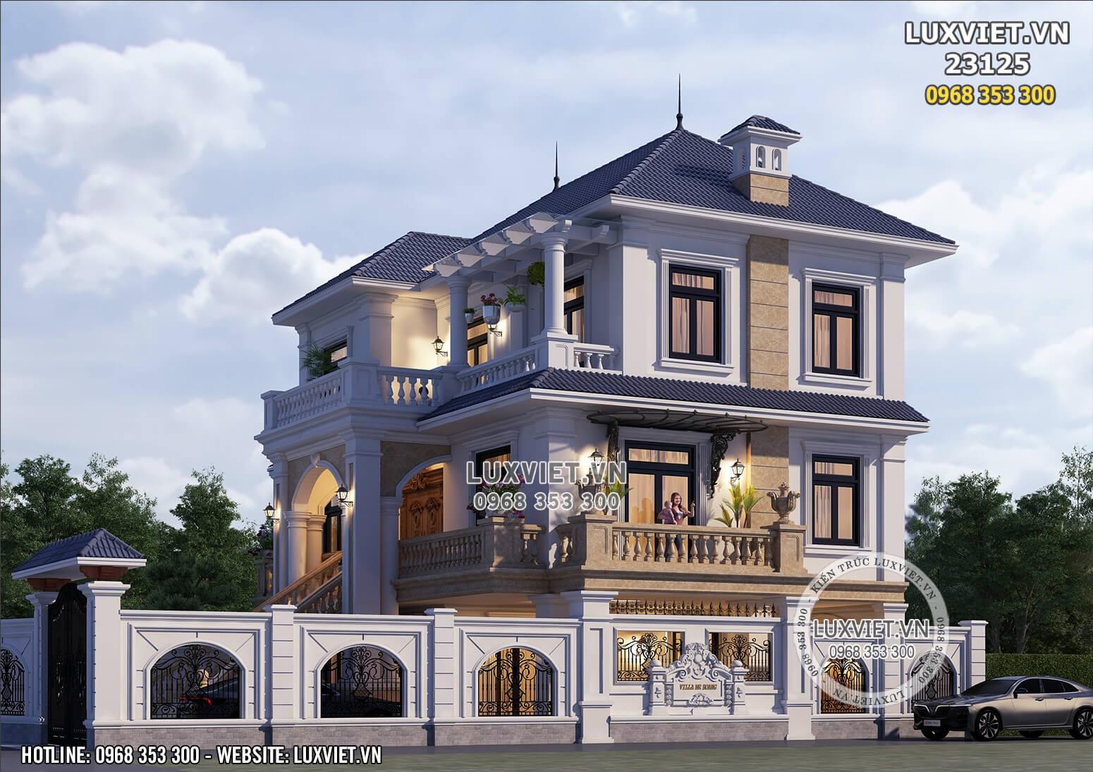 Hình ảnh: Một góc view thiết kế nhà 1 trệt 2 lầu đẹp tại Bắc Ninh - LV 23125