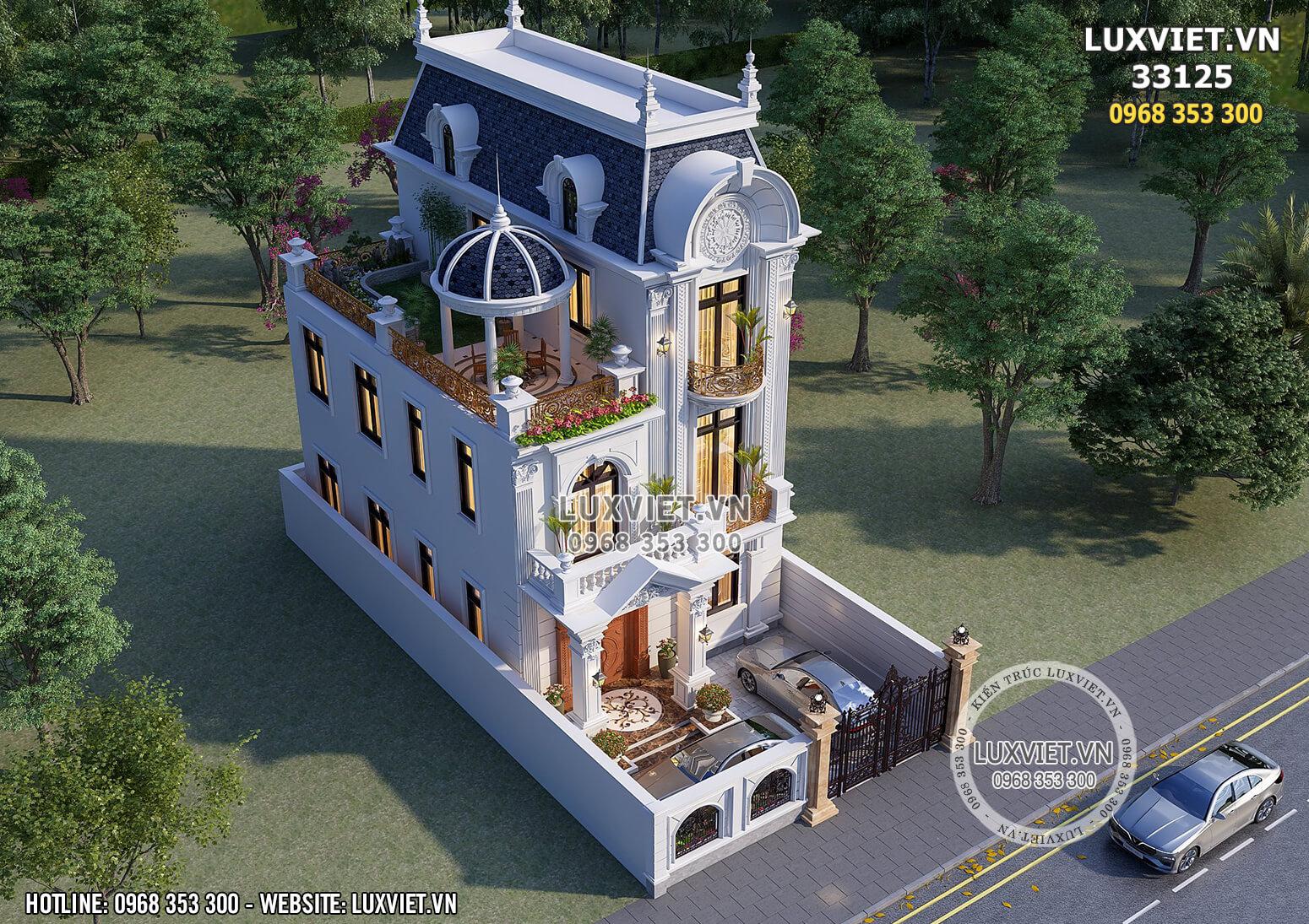 Hình ảnh: Biệt thự tân cổ điển 3 tầng mặt tiền 8m - LV 33125
