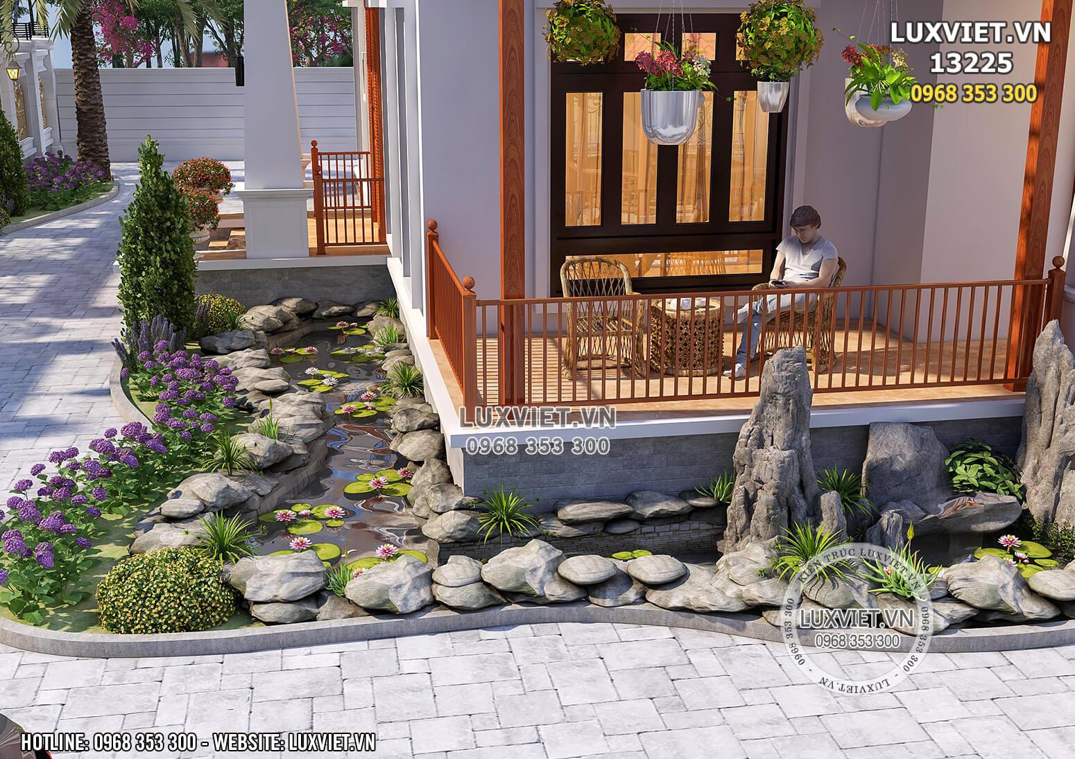 Hình ảnh: Một góc sân vườn - bể cá thư thái cho chủ đầu tư yêu thiên nhiên - LV 13225