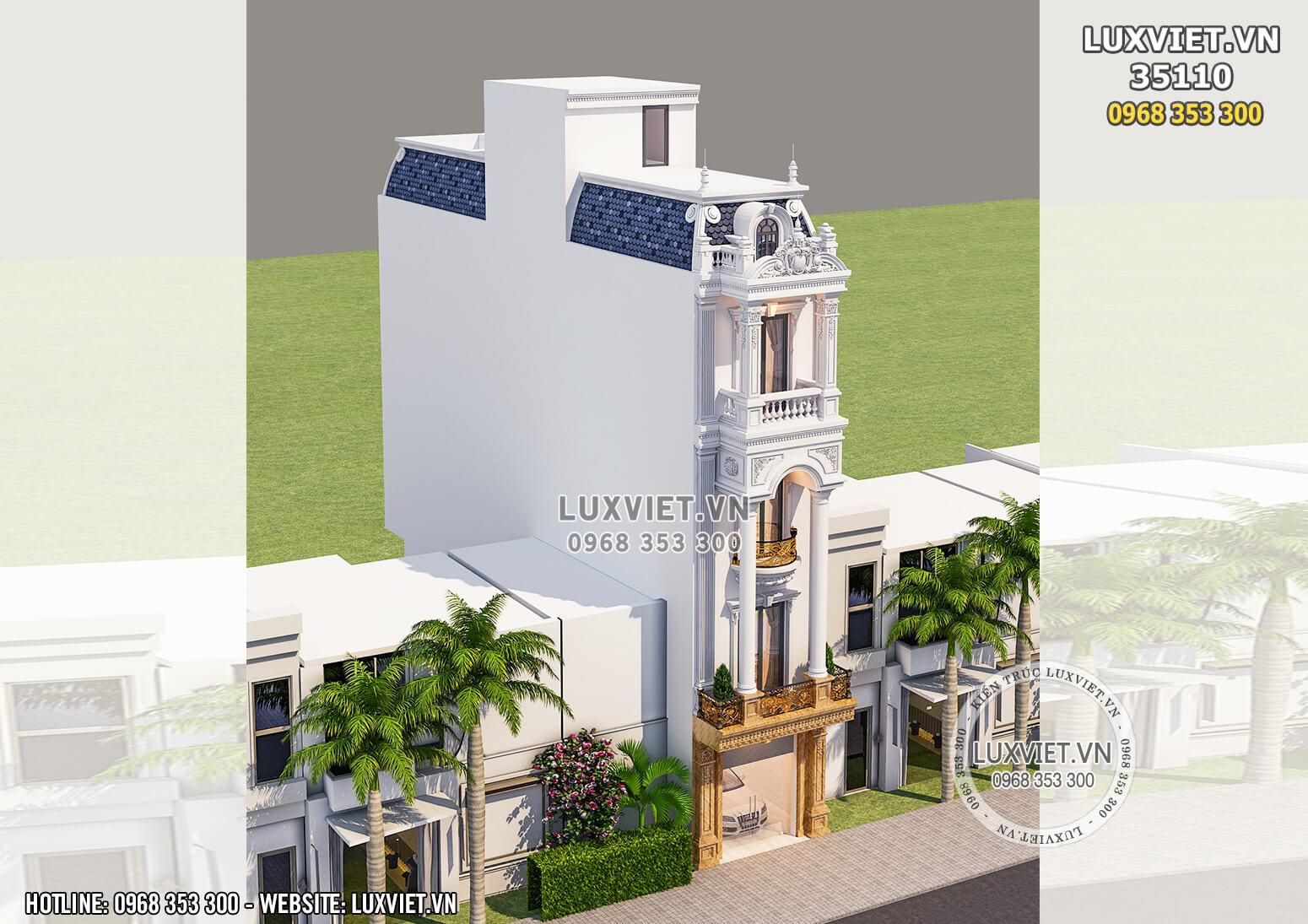 Hình ảnh: Nhà phố 4 tầng mặt tiền 5m mang phong cách tân cổ điển
