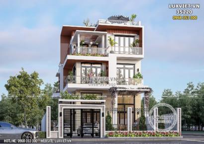 Hình ảnh: Thiết kế biệt thự hiện đại 3 tầng đẹp - LV 35220
