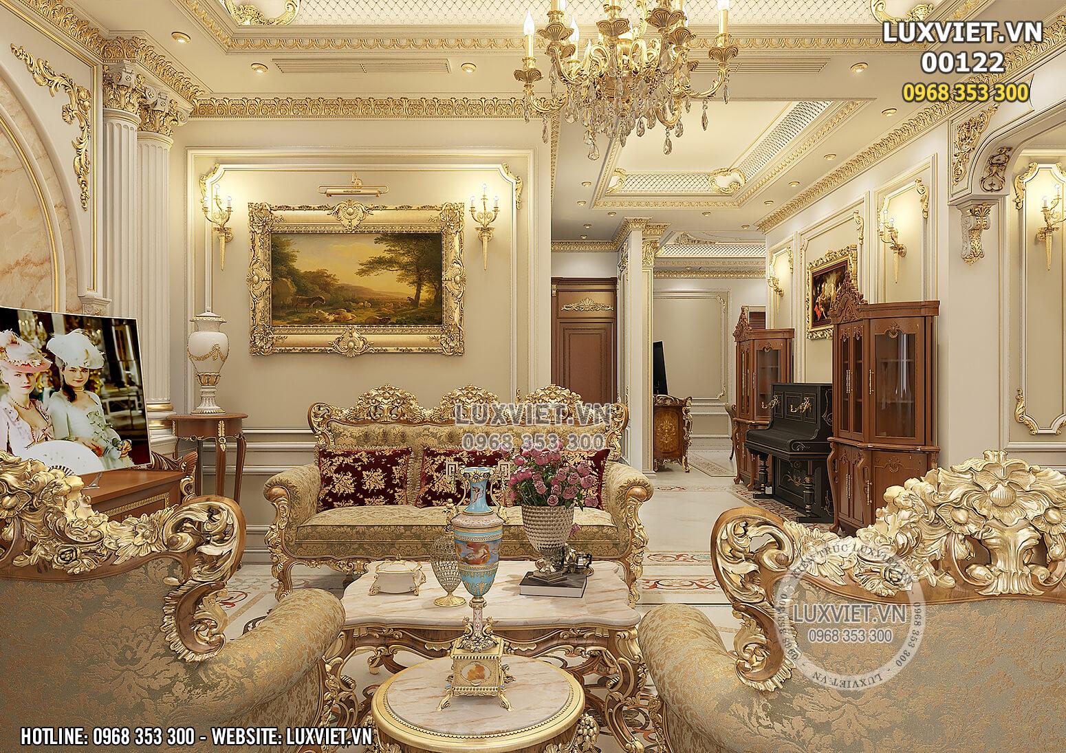 Hình ảnh: Phòng khách phong cách hoàng gia châu Âu - LV 00122