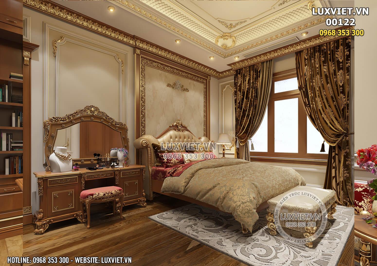 Hình ảnh: Phòng ngủ sang trọng và ấm cúng phong cách tân cổ điển (interior design) - LV 00122