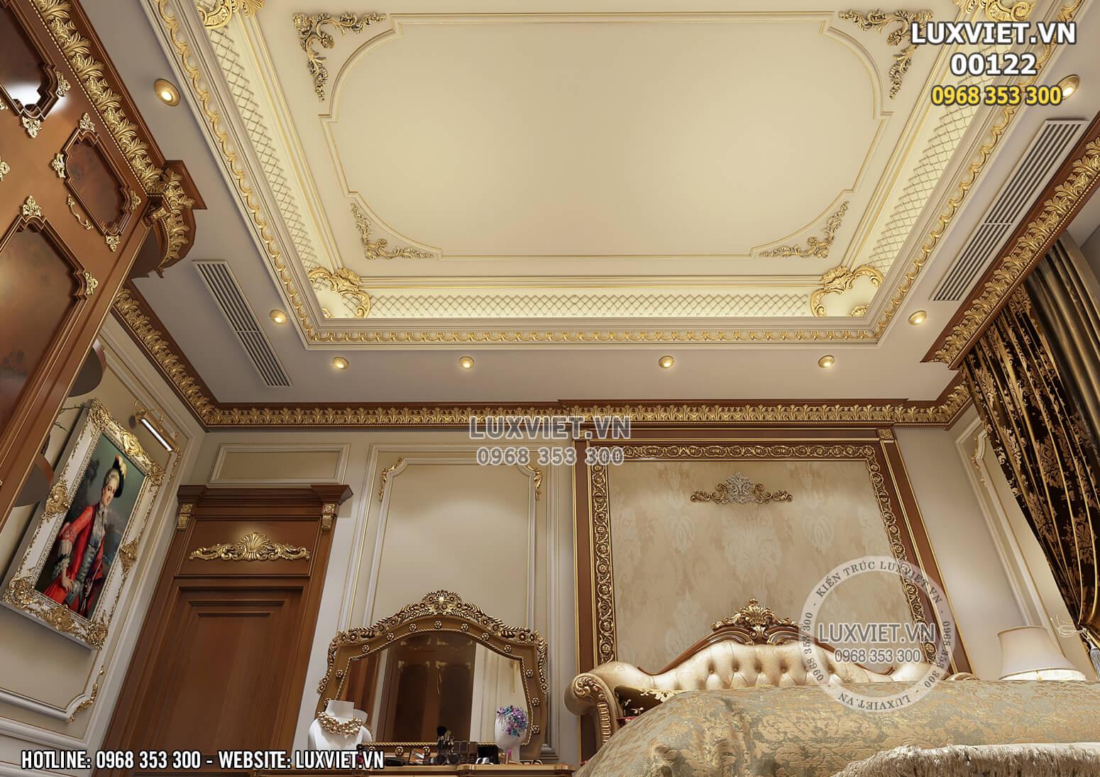 Hình ảnh: Chi tiết phào chỉ trần, tường và hệ thống chiếu sáng interior design - LV 00122