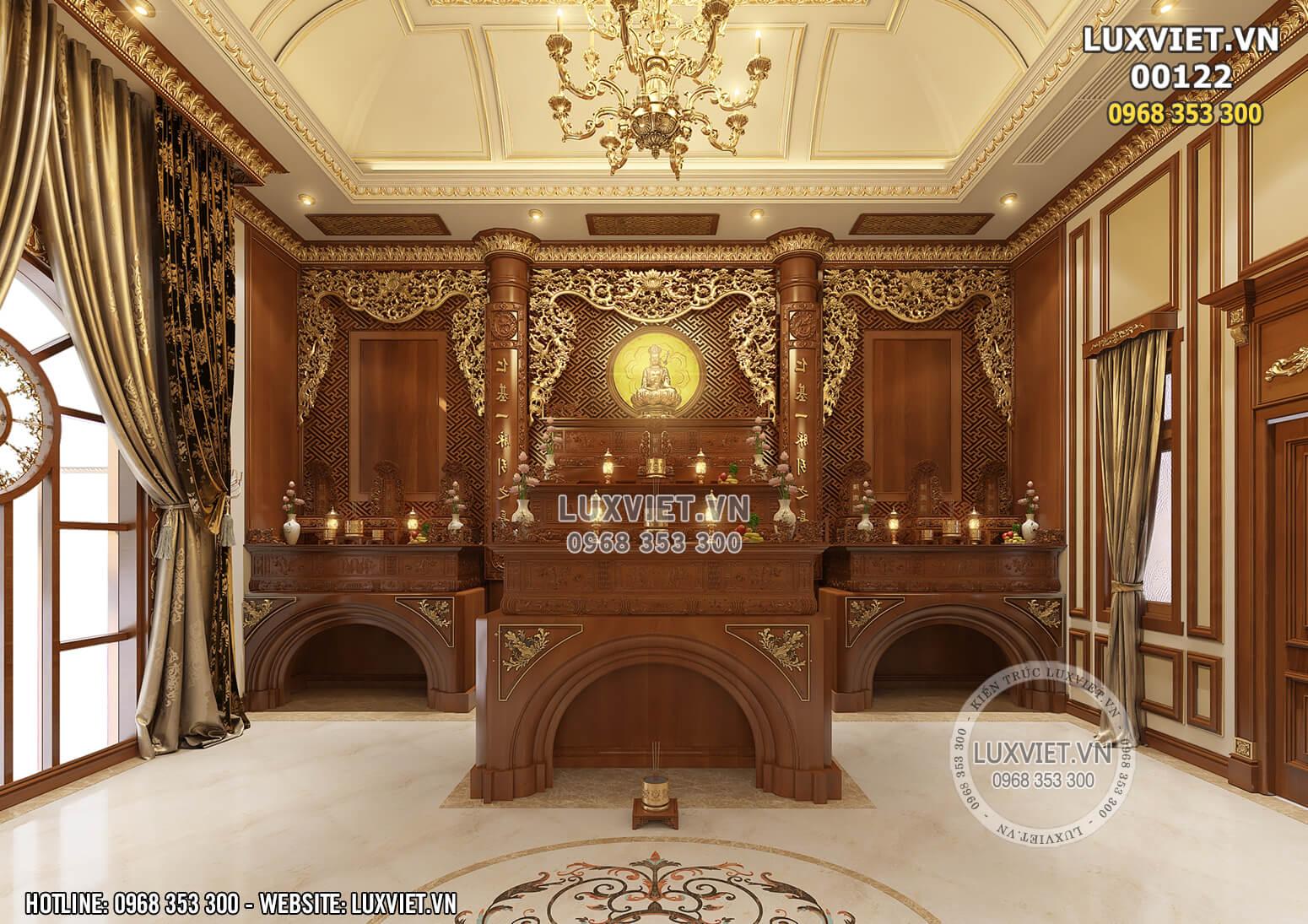 Hình ảnh: Phòng thờ trang nghiêm và linh thiêng interior design - LV 00122