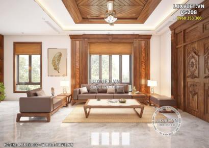 Hình ảnh: Nội thất phòng khách gỗ óc chó hiện đại - LV 05208