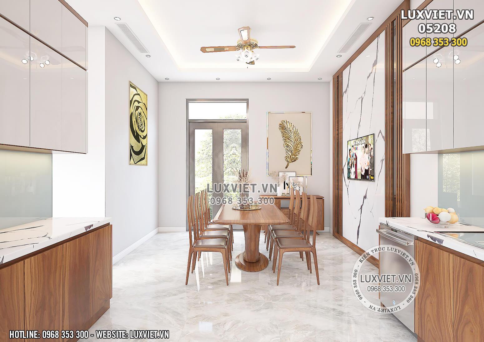 Hình ảnh: Thiết kế phòng bếp hiện đai và sang trọng - LV 05208