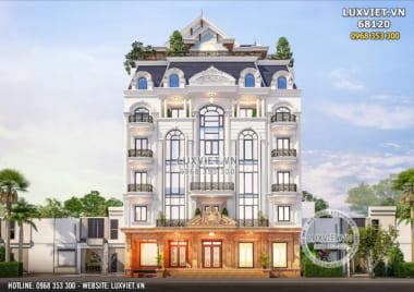 Thiết kế tòa nhà văn phòng kết hợp nhà ở độc đáo – LV 68120