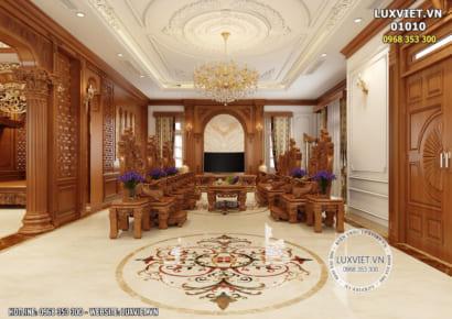 Hình ảnh: Phòng khách gỗ tân cổ điển sang trọng - Lv 01010