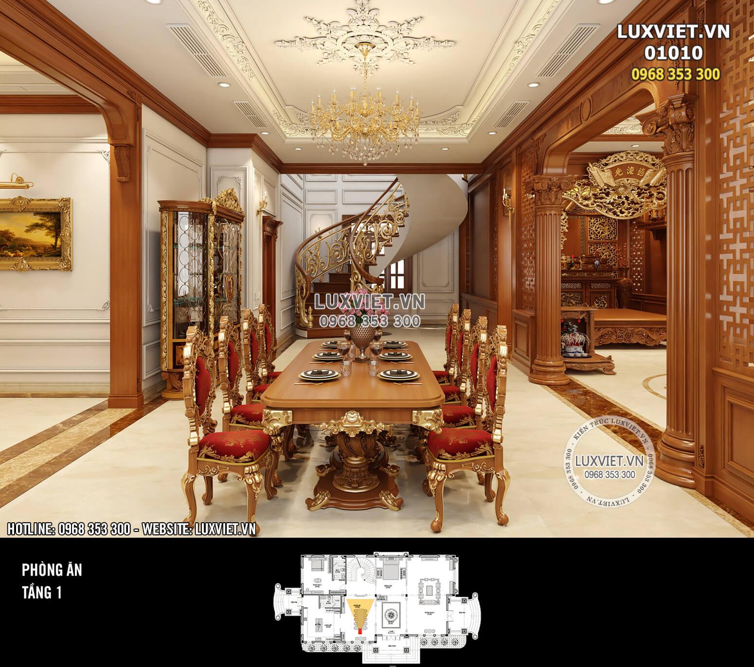 Hình ảnh: Khu vực bàn ăn rộng rãi cho đại gia đình - LV 01010