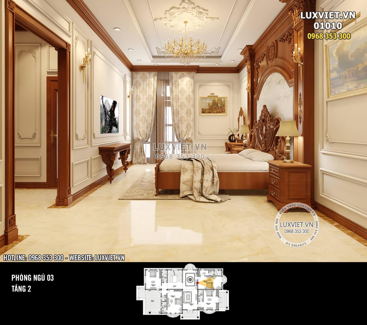 Hình ảnh: Phòng ngủ tầng 2 đẹp tinh tế - LV 01010