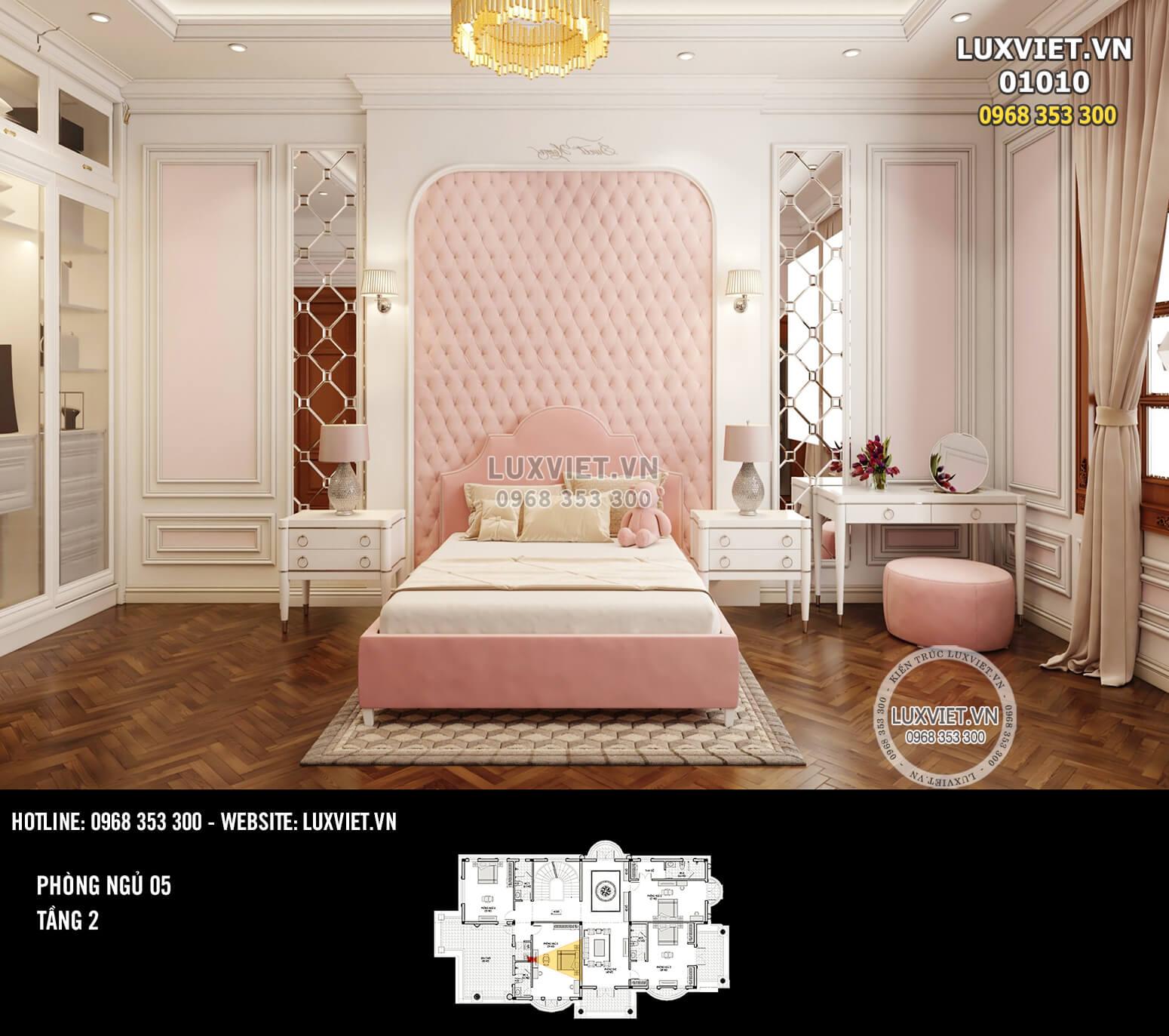 Hình ảnh: Phòng ngủ 05 cho cô con gái của gia chủ - LV 01010