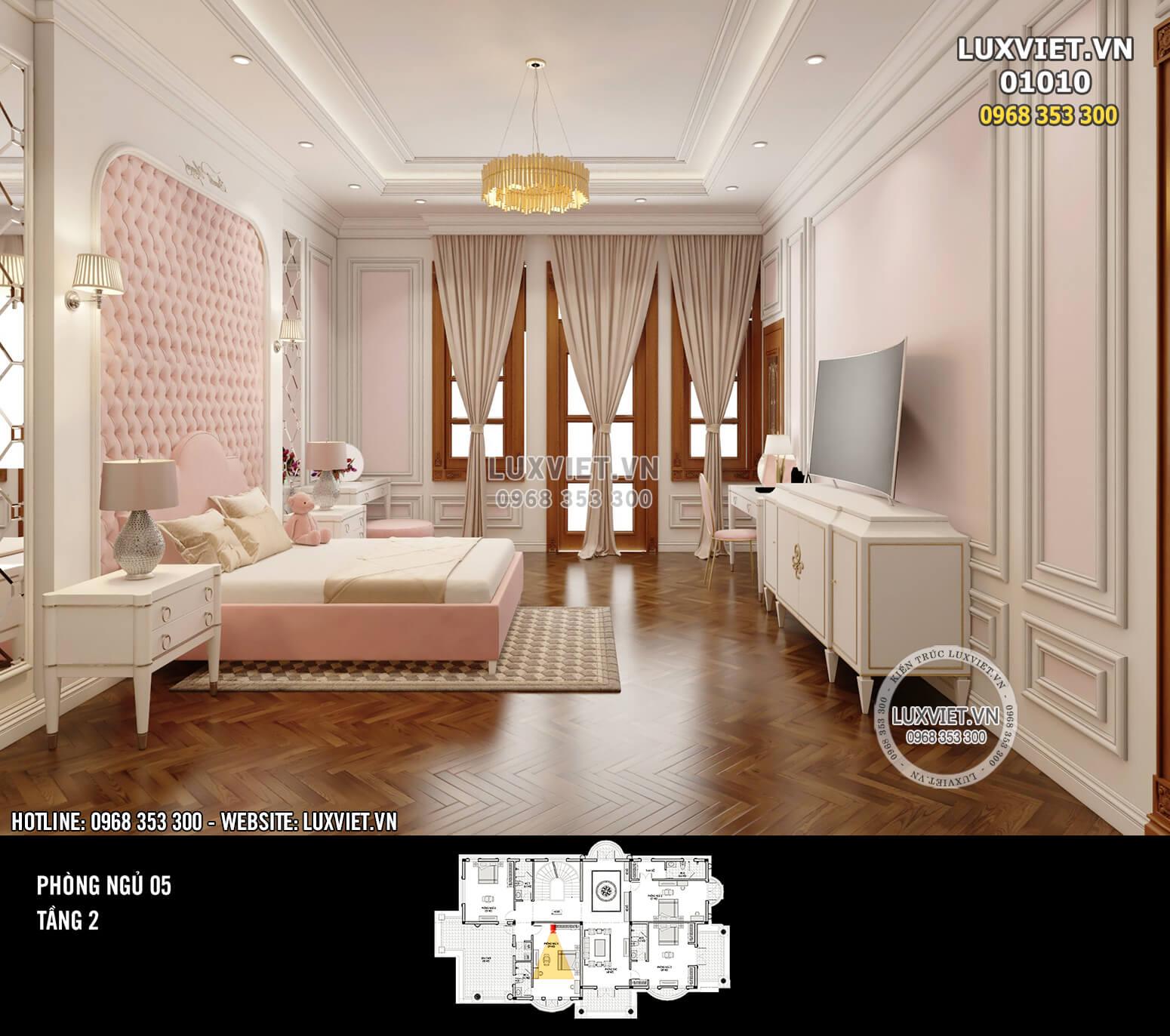 Hình ảnh: Toàn cảnh phòng ngủ 05 cho công chúa nhỏ của cả gia đình - LV 01010