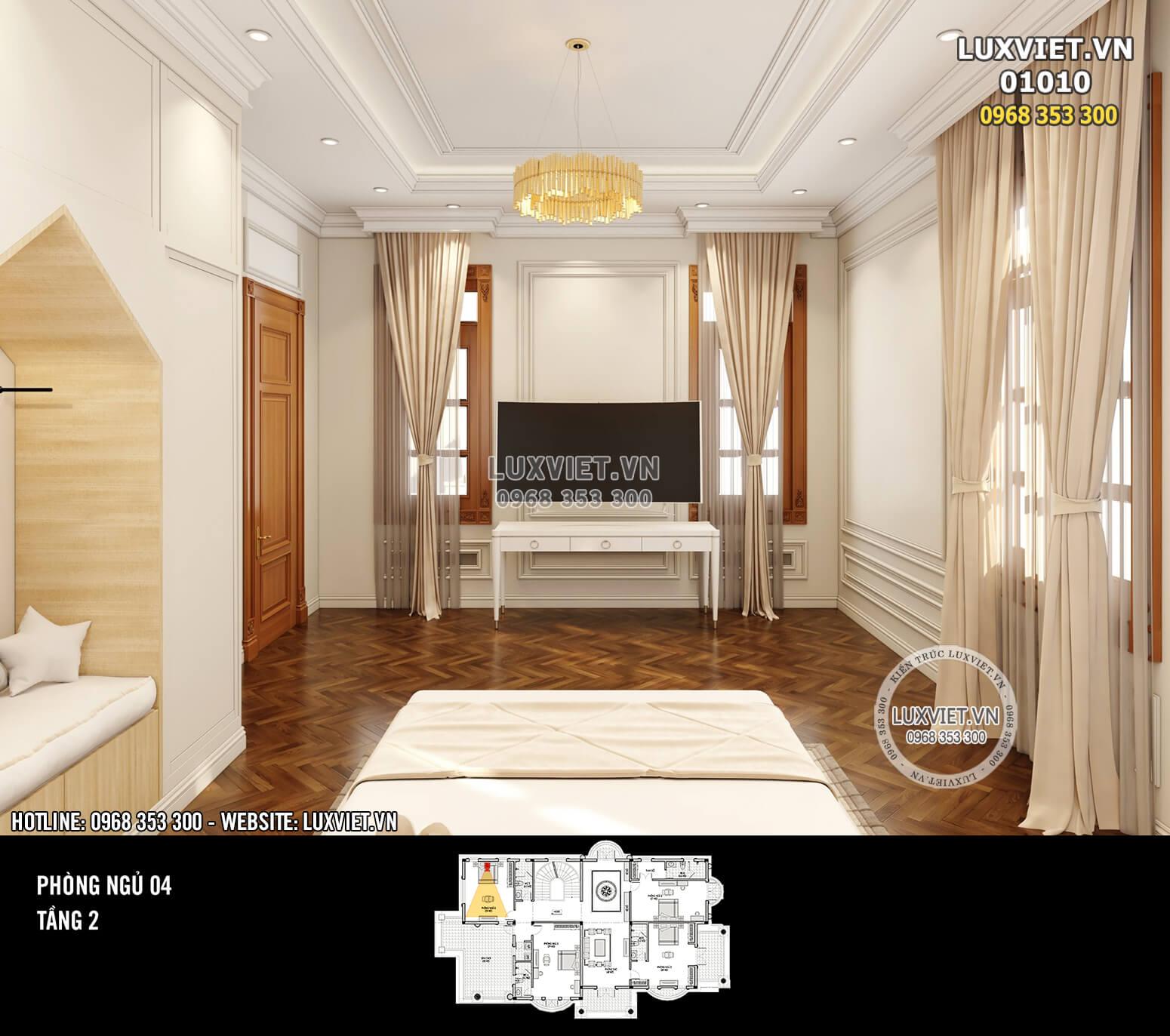 Hình ảnh: Thiết kế phòng ngủ tân cổ điển sang trọng và tiện nghi - LV 01010