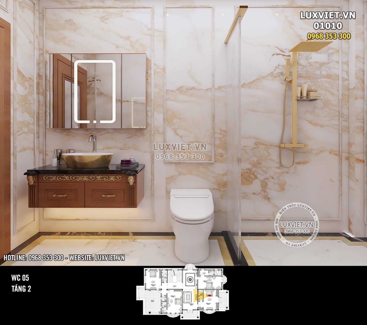 Hình ảnh: Thiết kế nội thất phòng tắm - Lv 01010