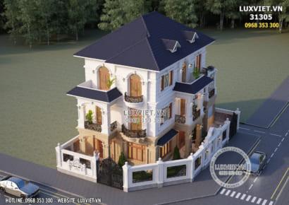 Thiết kế biệt thự Pháp tân cổ điển 3 tầng đẹp tại Hải Dương - Luxviet 31305
