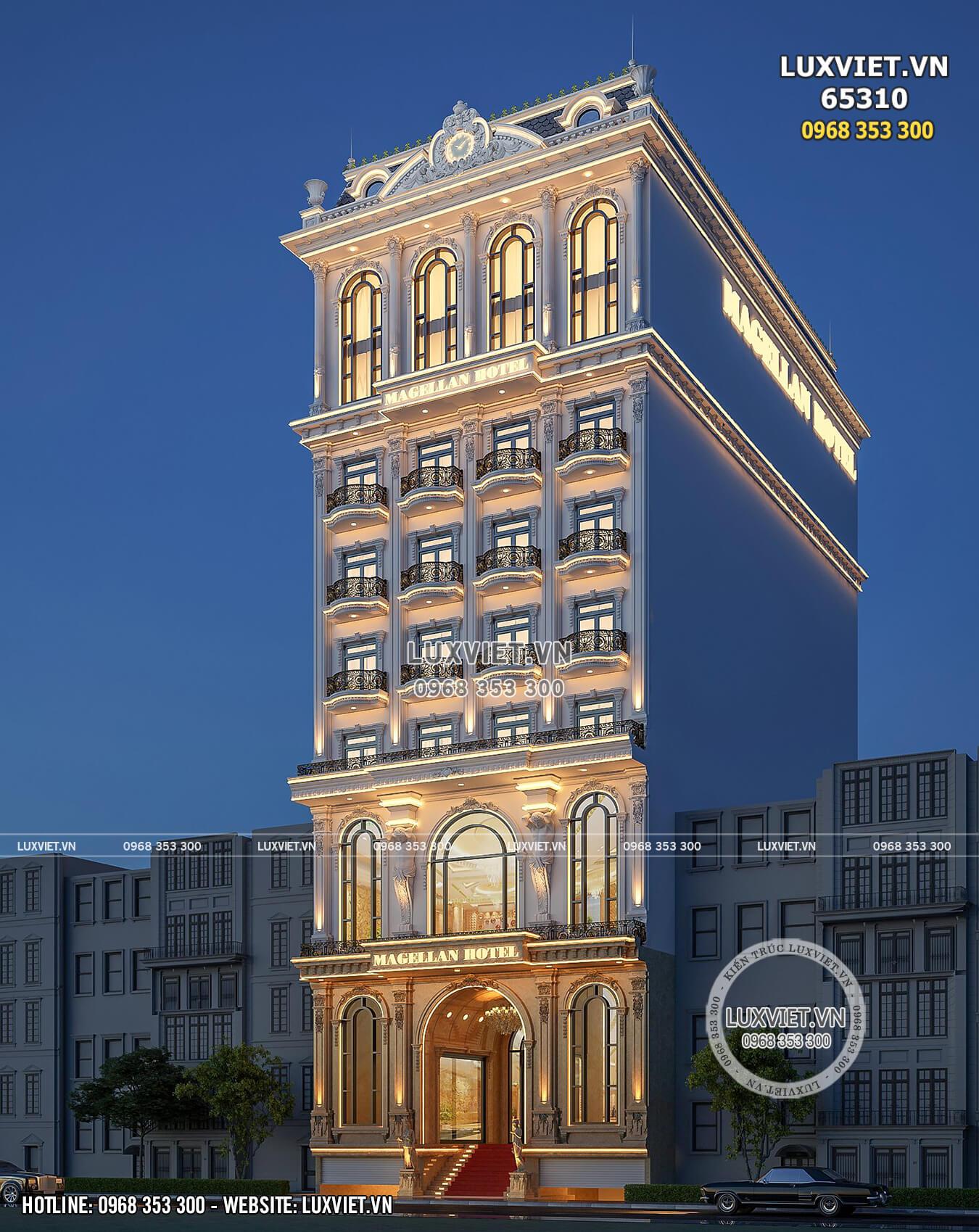 Hình ảnh: Mẫu khách sạn 10 tầng đẹp lộng lẫy - LV 65310