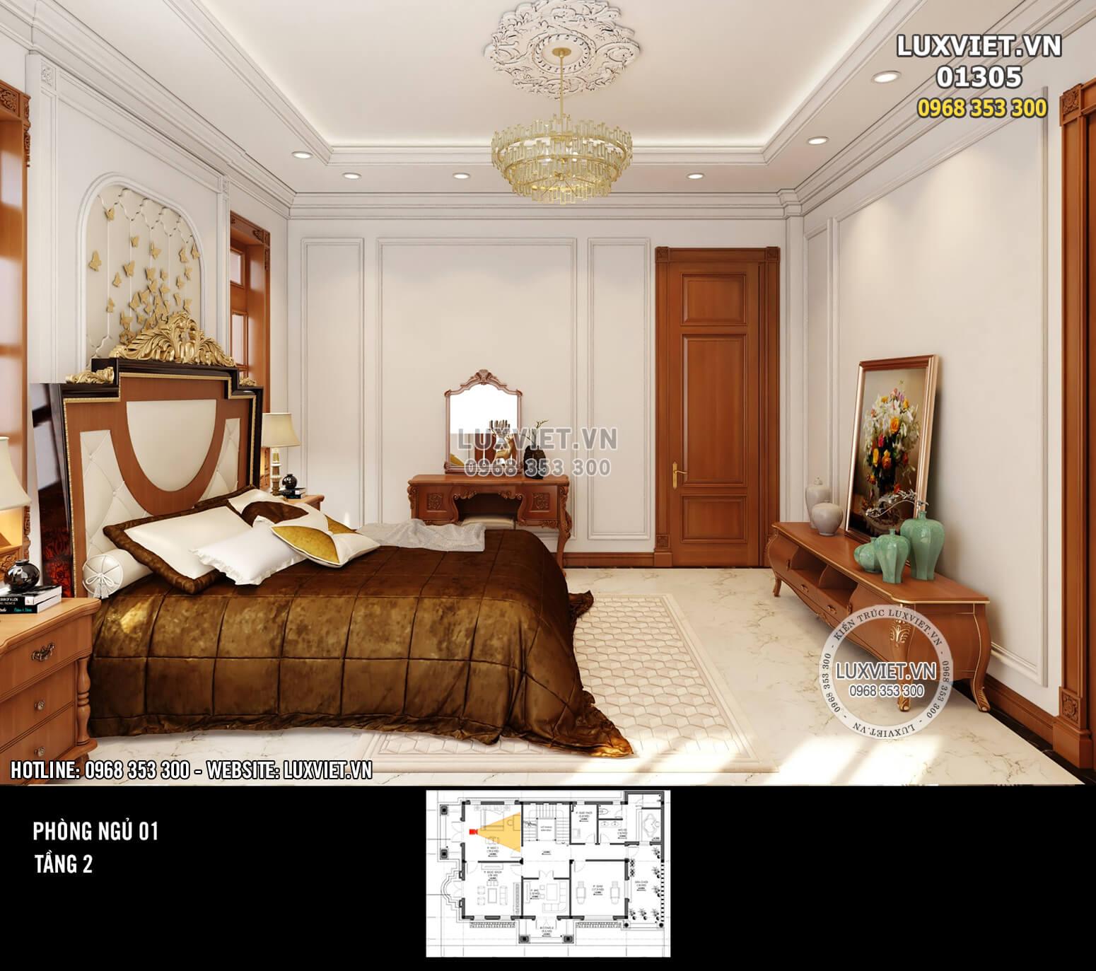 Hình ảnh: Nội thất phòng ngủ đẹp thời thượng - LV 01305