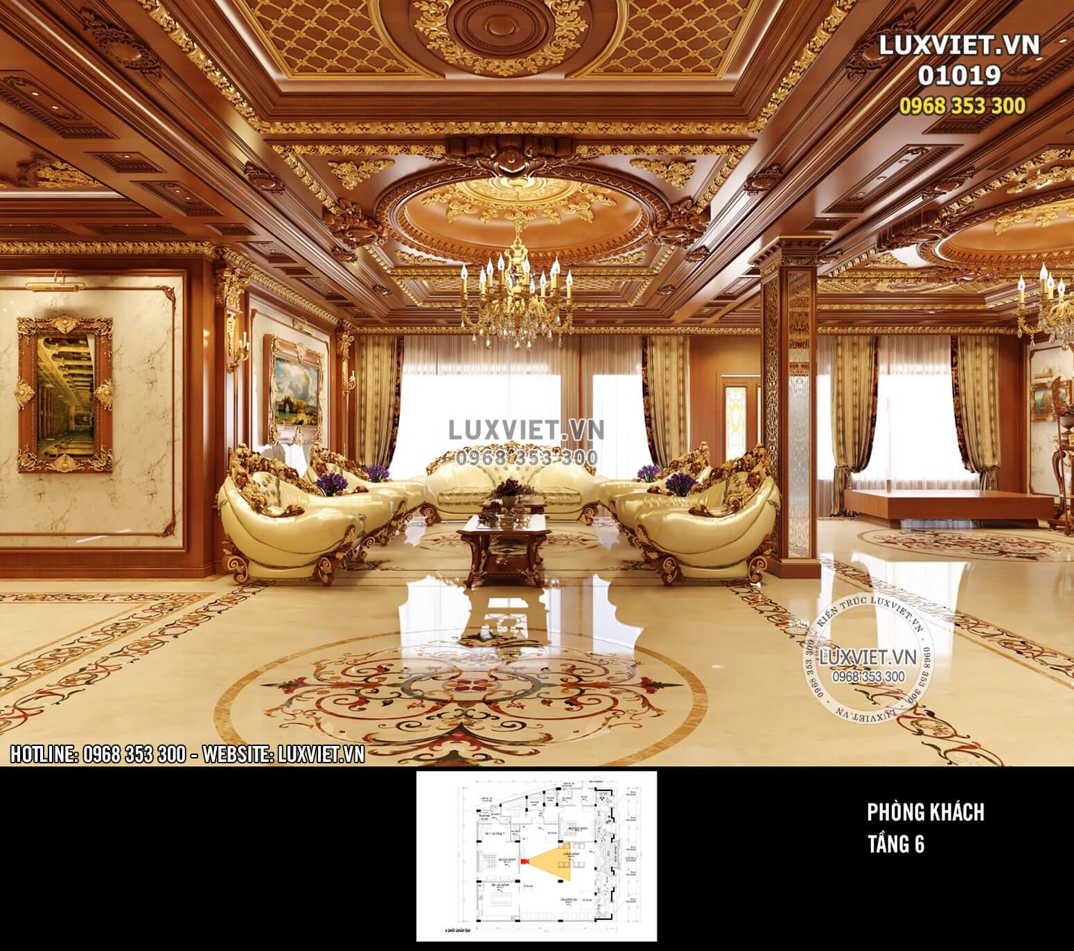 Hình ảnh: Nội thất tân cổ điển bằng gỗ đẹp nhất 2021 - LV 01019