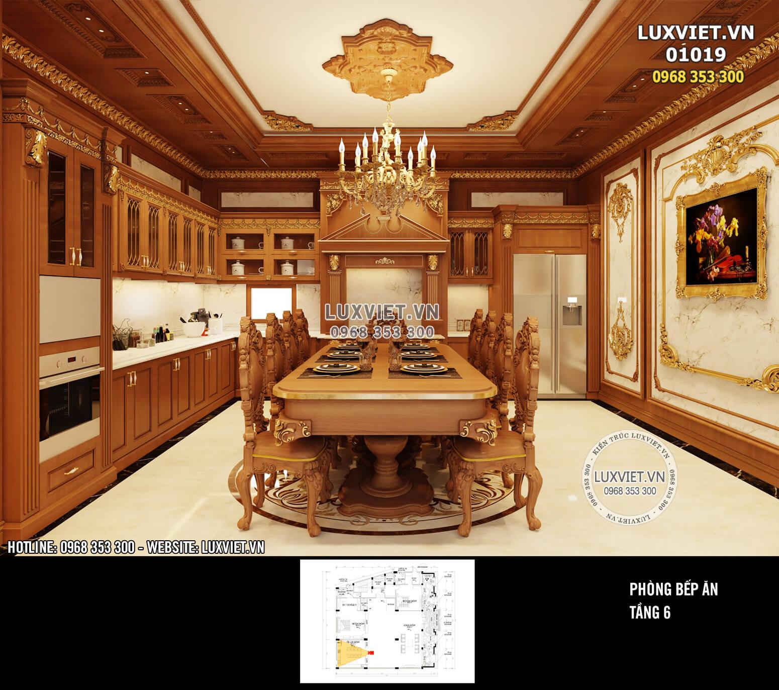Hình ảnh: Không gian bếp ăn sang trọng và xa hoa - LV 01019